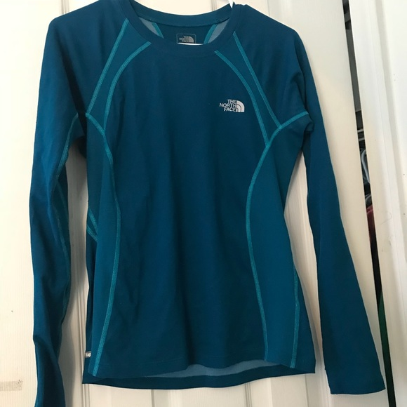 5f0c9c664 Women's Blue North Face Long Sleeve Shirt
